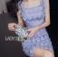 Lady Felicia Sexy Feminine Off-Shoulder Lilac Lace Dress L271-7909 thumbnail 10