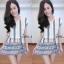 เดรสชีฟอง สไตล์สาวเกาหลีน่ารักๆ พร้อมเชือกผูกเอวเปนโบว์ thumbnail 6