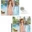 SM-V1-351 ชุดว่ายน้ำเอวสูง ลายดอกไม้สวยๆ สีชมพูอ่อน thumbnail 6