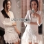 Lady Eva Classic White Polyester and Lace Ruffle Dress L250-79B02 thumbnail 1