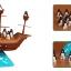 BO055 Pirate boat balancing Gameเกมส์บอร์ด เสริมพัฒนาการ เกมส์ติด เกมส์เพนกวินตกเรือโจรสลัด ฝึกไหวพริบ และ การทรงตัว thumbnail 2