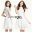 Lady Gabriela Crystal Embellished Flower White Lace Dress L263-8909 thumbnail 11