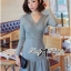DR-LR-251 Lady Lisa Formal Chic Evening-wear Knit Dress thumbnail 7