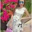 DR-LR-127 Lady Rachel Sweet Angel Flowery Dress in White thumbnail 5