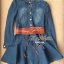 DR-LR-025 Lady Ribbon's Made Lady Mara Chic Denim Dress thumbnail 6