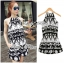 DS-PP-039 Lady Ashley Printed Playsuit in Black and White thumbnail 8