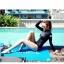 SM-V1-518 ชุดว่ายน้ำแขนยาว สีดำ สกรีนอักษรที่หน้าอก กางเกงบิกินี่ thumbnail 7
