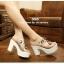 รองเท้าส้นสูงสไตล์เกาหลีลุคลำลองๆด้านหน้าประดับคริสตัลบนพลาสติกใสนิ่ม thumbnail 5
