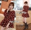 Lady Dree Monochrome Heart-Shaped Print Mini Dress L126-59A04 thumbnail 1