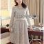 Lady Aliza Classic Vintage Plain Lace Dress with Belt L273-7909 thumbnail 10