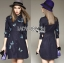 Lady Grace Sweet Feminine Butterfly Embroidered Denim Shirt Dress L215-85C07 thumbnail 2