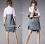 Lady Coco Cotton White Shirt with Denim Skirt Dress L202-69B10 thumbnail 15