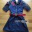 Lady Marissa Sweet Country Red Roses Embroidered Organza and Denim Shirt Dress with Belt L212-85C01 thumbnail 6