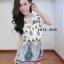 เดรสชีฟอง สไตล์สาวเกาหลีน่ารักๆ พร้อมเชือกผูกเอวเปนโบว์ thumbnail 7
