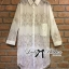 Lady Lindsey Insert Lace Cotton Long Shirt in White thumbnail 11