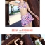 SM-V1-404 ชุดว่ายน้ำ เซ็ต 3 ชิ้น ลายดอกไม้สีคัลเลอร์ฟูล สวยๆ thumbnail 11