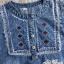 Korean denim embroidered Vintage dress by Aris Code thumbnail 11