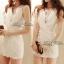 DR-LR-040 Lady Miki Pleats Please Chiffon Dress (สีขาว) thumbnail 9
