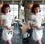 DR-LR-053 Lady Pure White Blossom Embroidery Gala Mini dress thumbnail 3