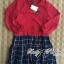 DR-LR-243 Lady Cara Sweet Preppy Girl Checked Dress thumbnail 9