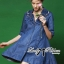 DR-LR-158 Lady Rosalie Smart Chic Embroidered Denim Shirt Dress thumbnail 5
