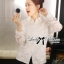 Lady Blaire Floral Embroidered Lace Shirt in White L274-7509 thumbnail 11