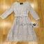 Lady Aliza Classic Vintage Plain Lace Dress with Belt L273-7909 thumbnail 18