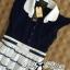 DR-LR-209 Lady Claire Mixed Print Sleeveless Insert Chiffon Shirt Dress thumbnail 15