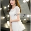 Lady Laurel Classic Sweet Lace Peplum Top and Short Ensemble Set L271-7516 thumbnail 5