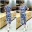 Lady Taylor Street Chic Fashionable Printed Soft Denim Set L262-7502 thumbnail 7