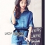 Lady Rosie Sporty Blue Denim Cotton Playsuit with Ribbon L188-69B07 thumbnail 6