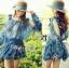 DR-LR-263 Lady Amanda Summer Floral Cut-Out Chiffon Dress thumbnail 1