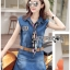 Moschino Country Girl Denim Set with Printed Pleated Scarf L258-8901 thumbnail 9