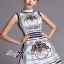 DR-LR-227 Lady Mary Royal Haute Couture Print Dress thumbnail 4