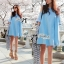 Lady Alexi Casual Cut-Out Loose Denim Dress L121-65C06 thumbnail 10