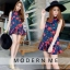 Dress กุหลาบแดงคอตั้ง thumbnail 3