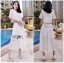 Lady Ariana Round n' Round Cotton Embroidered Top and Pants Set L273-8911 thumbnail 12
