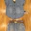 Lady Cindy Little Western Cowboy Denim Shirt and Shorts Set with Belt L262-8507 thumbnail 11