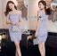 Lady Felicia Sexy Feminine Off-Shoulder Lilac Lace Dress L271-7909 thumbnail 7