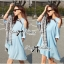 Lady Alexi Casual Cut-Out Loose Denim Dress L121-65C06 thumbnail 3