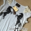 Lady Embroidered Horse Print Top and Denim Flared Skirt Set L120-75D15 thumbnail 3