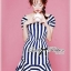 DR-LR-223 Lady Jenny '50s Style Mixed Striped Dress thumbnail 7