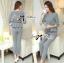 Lady Chloe Houndstooth Peplum Top and Skinny Pants Set L148-85E11 thumbnail 2