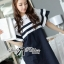 DR-LR-155 Lady Natasha Striped Dress in Navy Style thumbnail 7