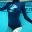 SM-V1-518 ชุดว่ายน้ำแขนยาว สีดำ สกรีนอักษรที่หน้าอก กางเกงบิกินี่ thumbnail 6