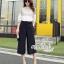 Korean lace print two-piece leg trousers by Aris Code thumbnail 4