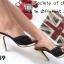 รองเท้าส้นเข็ม แบบหน้าสวม ดีไซน์หรู ตัดขอบกากเพชร thumbnail 8