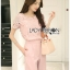 Lady Olivia Smart Casual Baby Pink Lace Top and Pants Set L249-89C01 thumbnail 7