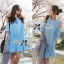 Lady Alexi Casual Cut-Out Loose Denim Dress L121-65C06 thumbnail 6