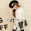 Lady Lindsey Insert Lace Cotton Long Shirt in White thumbnail 2